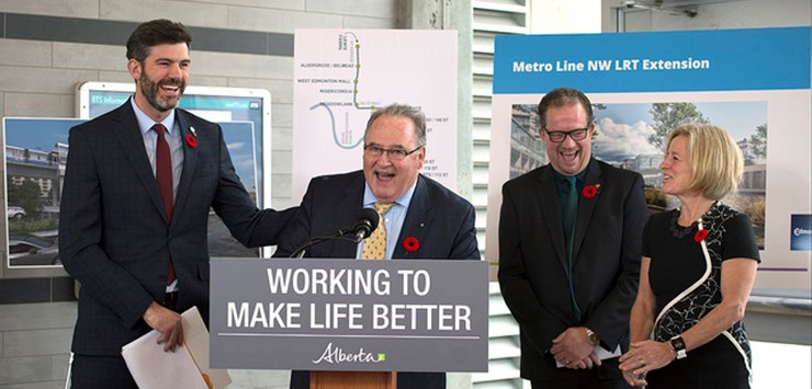 Alberta govt to fund Edmonton Valley Line West expansion project